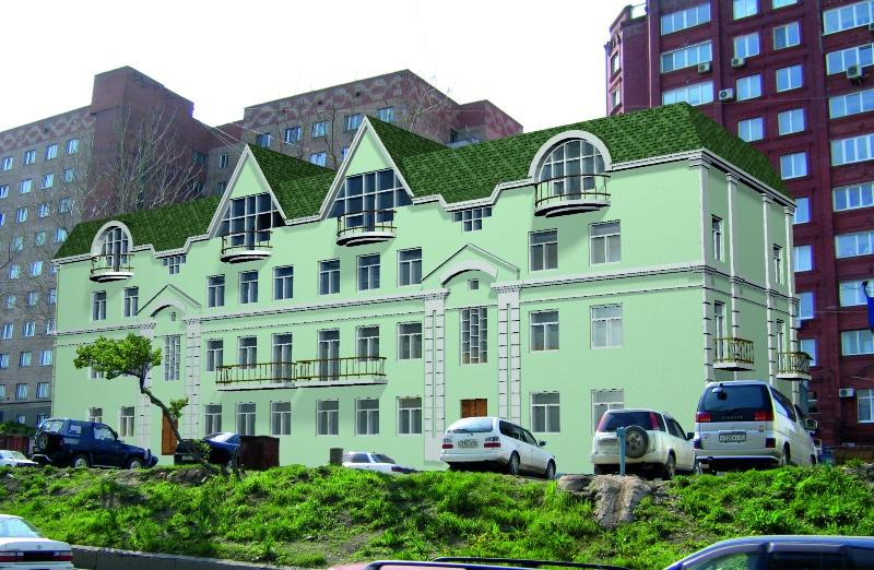 Эскизный проект реконструкции жилого дома по ул. Верхнепортовая, 42 в г. Владивосток